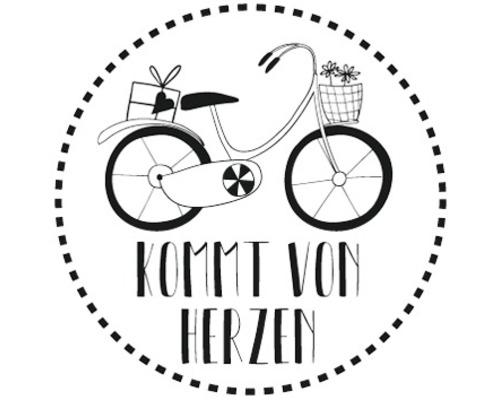 """Stempel """"Kommt von Herzen"""", 3cm ø"""