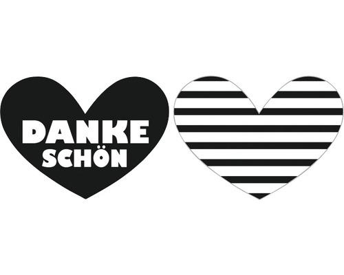 """Labels """"Dankeschön"""" + Streifen, 2 Stück"""