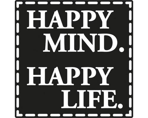 """Label """"Happy Mind. Happy Life"""" 50x50mm"""