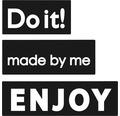 "Labels ""made by me"",""ENJOY"",""Do it!"", 3 Stück"