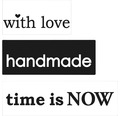 """Labels """"with love"""",""""handmade"""",""""time is NOW"""" 3 Stück"""