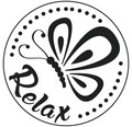 """Label """"Relax"""", 45mm ø"""