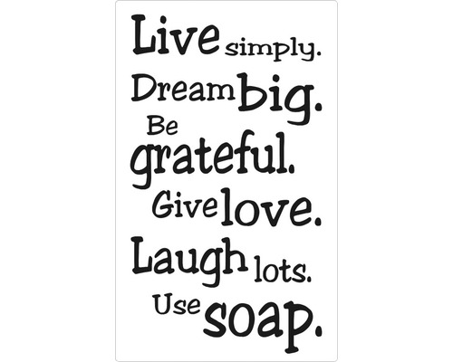 """Label """"Live simply..."""""""