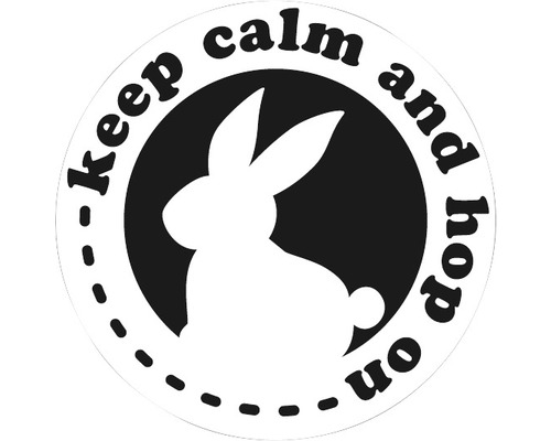 "Label ""keep calm and hop on"", 45mm"