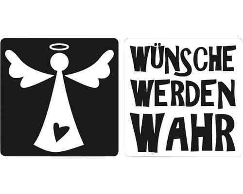 """Labels """"Wünsche werden wahr"""" + Engel, 2 Stück"""