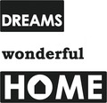 "Labels ""Dreams"", ""wonderful"", ""Home"", 3 Stück"