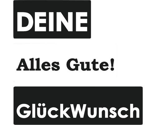 """Labels """"Deine"""", """"Alles Gute!"""", """"GlückWunsch"""", 3 Stück"""