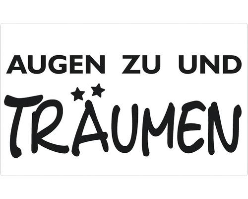 """Label """"Augen zu und Träumen"""" 40x65 mm"""