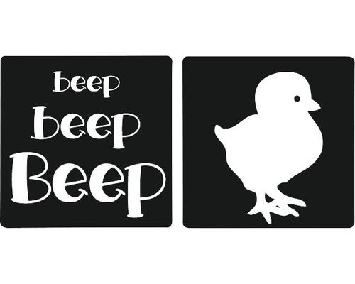 "Labels Küken + ""beep beep beep"", 2 Stück"