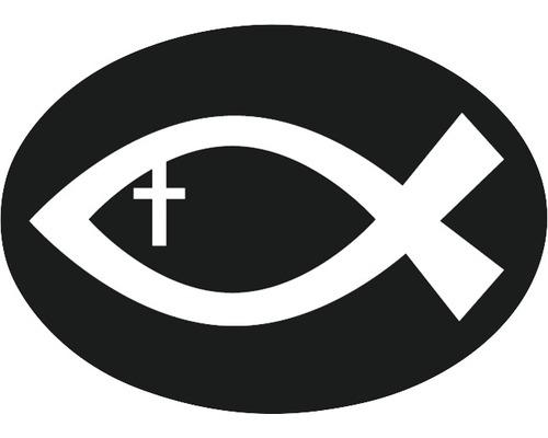 Label Christlicher Fisch 5,2x3,7cm
