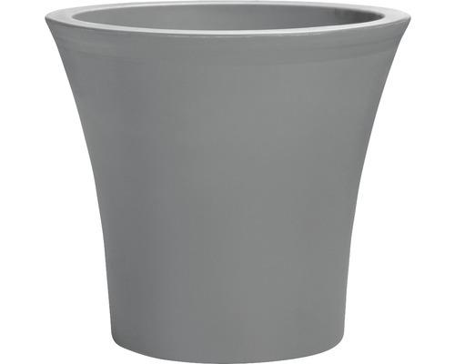 Pflanztopf City Kunststoff Ø 40 cm H 38 cm inkl. Bewässerungssystem und Rollen grau