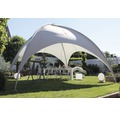 Kuppeldachpavillon Leco 5 x 5 x 3,50 m lichtgrau inkl. Befestigungsmaterial