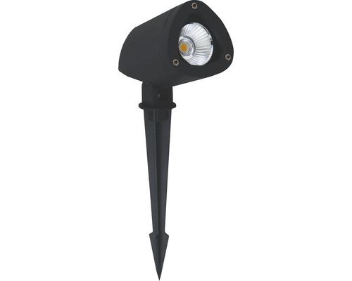LED Außenspot IP65 7,5W 650 lm 3000 K warmweiß Gartia schwarz mit Erdspieß 1-flammig 38°