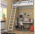 Hochbettleiter Dolle Kiefer/Buche weiß grundiert 2-teilig mit 10 Stufen