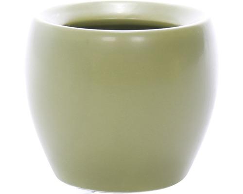 Übertopf Lisa halbrund H 9 cm grün