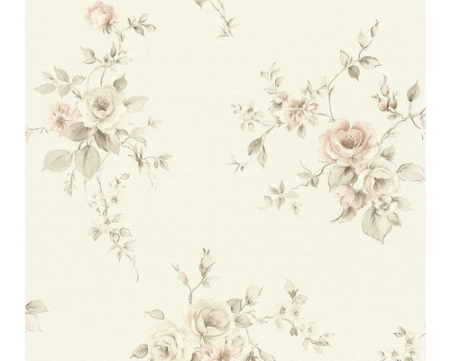 Vliestapete 3723-14 Romantico Bouquet rosa grau
