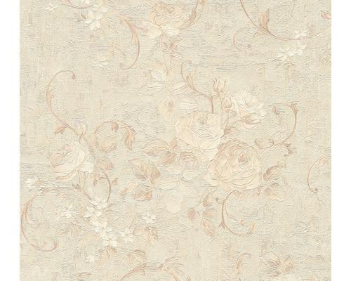 Vliestapete 37224-2 Romantico Blumen hellbeige