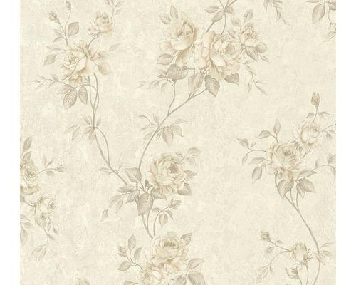 Vliestapete 37226-3 Romantico Blumenranke taupe