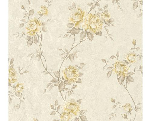 Vliestapete 37226-2 Romantico Blumenranke gelb