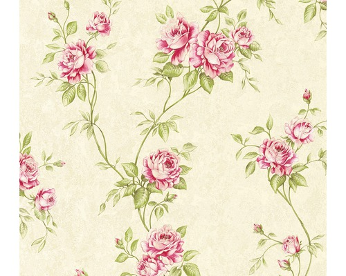 Vliestapete 37226-1 Romantico Blumenranke rosa