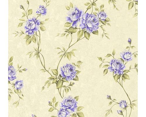 Vliestapete 37226-5 Romantico Blumenranke lila
