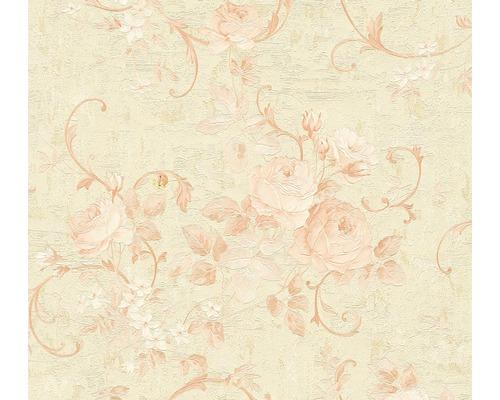 Vliestapete 37224-1 Romantico Blumen rose beige