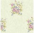 Vliestapete 37225-5 Romantico creme Bouquet rosa