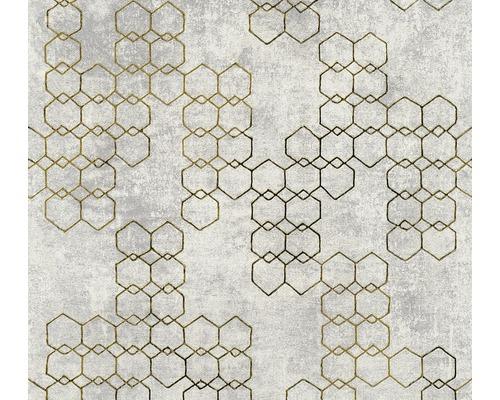 Vliestapete 37424-4 New Walls Grafik hellgrau