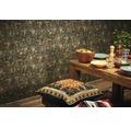 Vliestapete 37391-1 New Walls Mosaik grün braun