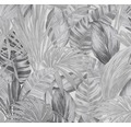 Vliestapete 36820-3 Greenery Palmenblatt grau