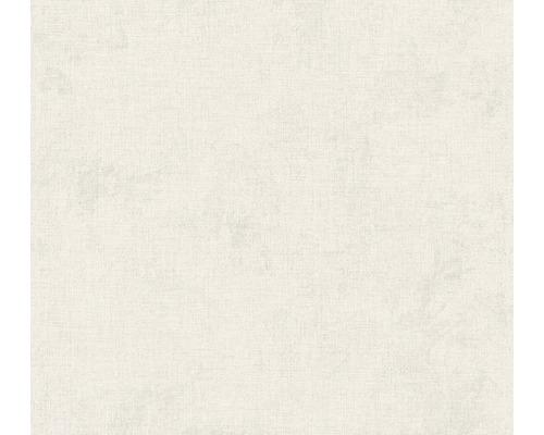 Vliestapete 37430-7 New Walls Uni textil hellgrau
