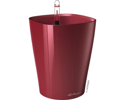 Blumentopf Lechuza Deltini Ø 14 x H 18 cm rot inkl. Erdbewässerungsystem Pflanzeinsatz Substrat Wasserstandsanzeiger 9 Stk