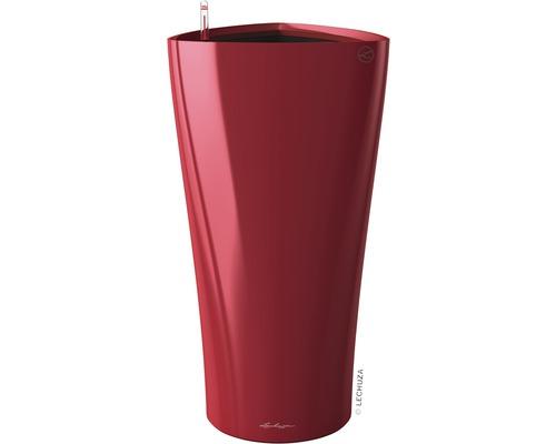 Pflanzvase Lechuza Delta Ø 30 x H 56 cm rot inkl. Erdbewässerungsystem Pflanzeinsatz Substrat Wasserstandsanzeiger
