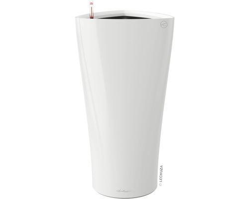 Pflanzvase Lechuza Delta Ø 40 x H 75 cm weiß inkl. Erdbewässerungsystem Pflanzeinsatz Substrat Wasserstandsanzeiger