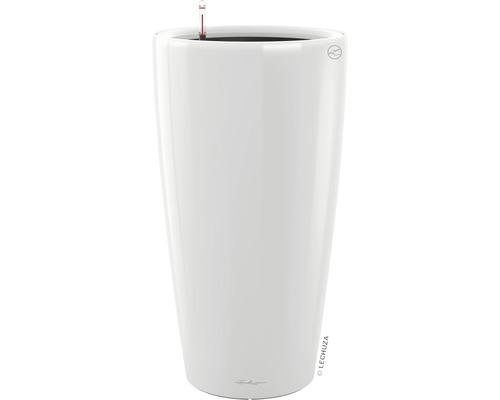 Pflanzvase Lechuza Rondo Ø 40 x H 75 cm weiß inkl. Erdbewässerungsystem Pflanzeinsatz Substrat Wasserstandsanzeiger