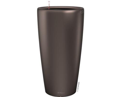 Pflanzvase Lechuza Rondo Ø 40 x H 75 cm espresso inkl. Erdbewässerungsystem Pflanzeinsatz Substrat Wasserstandsanzeiger