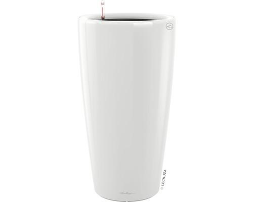 Pflanzvase Lechuza Rondo Ø 32 x H 56 cm weiß inkl. Erdbewässerungsystem Pflanzeinsatz Substrat Wasserstandsanzeiger
