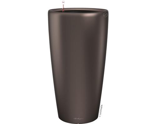 Pflanzvase Lechuza Rondo Ø 32 x H 56 cm espresso inkl. Erdbewässerungsystem Pflanzeinsatz Substrat Wasserstandsanzeiger