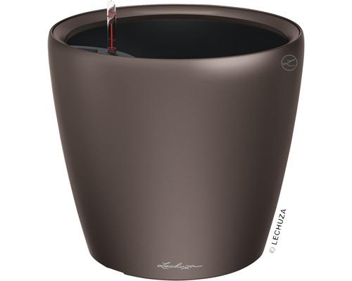 Blumentopf Lechuza Classico LS Ø 21 x H 20 cm espresso inkl. Erdbewässerungsystem Pflanzeinsatz Substrat Wasserstandsanzeiger