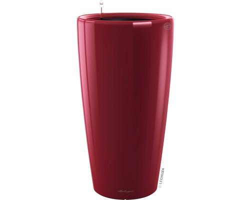 Pflanzvase Lechuza Rondo Ø 32 x H 56 cm rot inkl. Erdbewässerungsystem Pflanzeinsatz Substrat Wasserstandsanzeiger