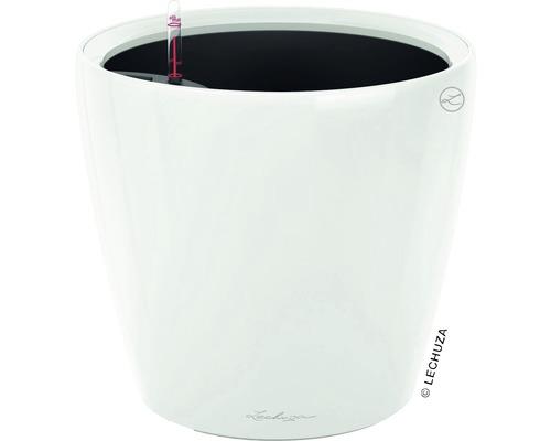 Blumentopf Lechuza Classico LS Ø 28 x H 26 cm weiß inkl. Erdbewässerungsystem Pflanzeinsatz Substrat Wasserstandsanzeiger