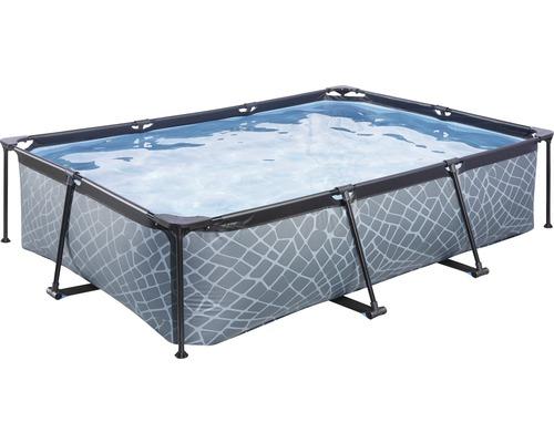 EXIT Stone Pool 300 x 200 x 65 cm grau mit Filterpumpe