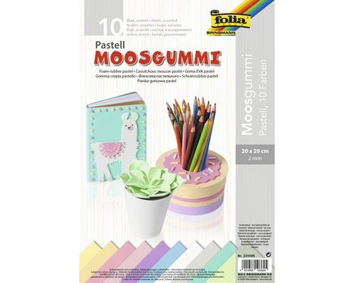 Moosgummi Pastell, 20x29 cm 10 Stück