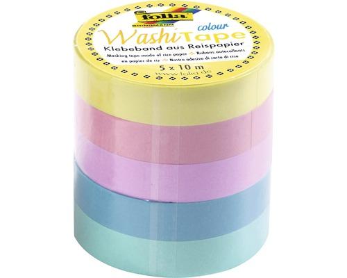 Kreativ Washi-Tape Pastell 5 Stück