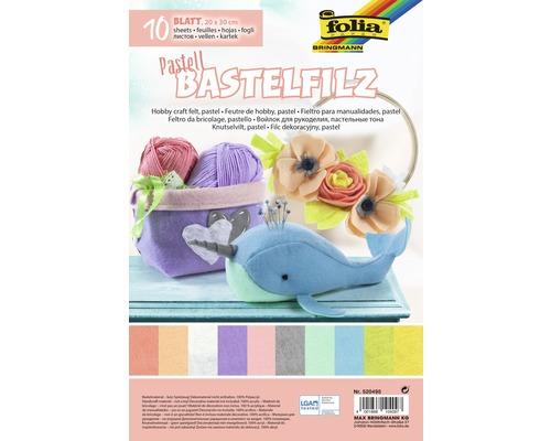 Bastelfilz Pastell 20x30 cm 10 Bogen