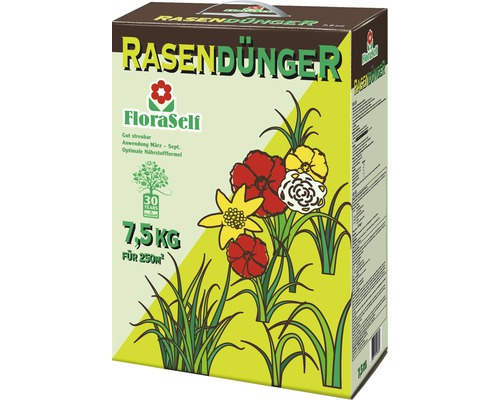 Rasendünger FloraSelf 7,5kg 250 m²