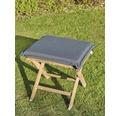 Polster für Sessel/Hocker 50 x 45 cm Polyester grau