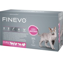 Katzenfutter nass FINEVO Sensitive Cat Mix 12x85 g