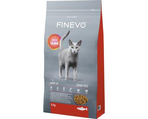 Katzenfutter trocken Adult Cat FINEVO Lachs getreidefrei 8 kg
