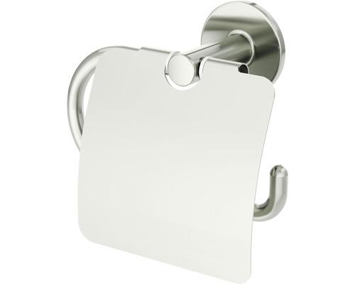 Toilettenpapierhalter mit Deckel Lenz NOA nickel-matt